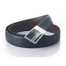 Black Leather Press Buckle Classic Belts