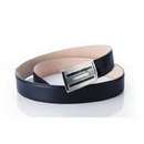 Genuine Leather With Stainless Steel Buckle Black Classic Belts