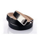 Leather Strap Stainless Steel Buckle Black Classic Blts