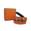 Orange Copper Buckle Women's Authentic Brand Leather Belt