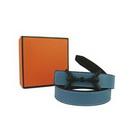 Blue Plastic Buckle Women's Real Leather Belts