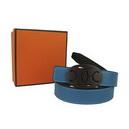 Blue Plastic Buckle Women's Authentic Brand Leather Belt