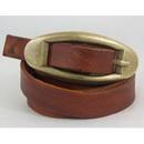 Brown Genuine Leather Custom Made Unisex Casual Belt