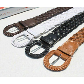 Ladies' Weave Colorful PU Belts