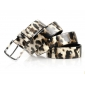 Leopard Charming Leather-wrapped Buckle Embossing Leather Women Belts