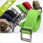 Washable Anti-faded Candy Color Steel Buckle Fabric Belts