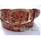 Engraving Flower Copper Buckle Butterfly Pure Leather Classic Belts