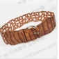 Art Hollow Out Round Pin Buckle Lap PU Classic Belts