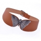 Simulation Leather Alloy Butterfly Buckle Wild Fashion Dress Belts