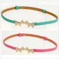 Kiss Dog Buckle Candy Color Leather Thin Classic Belts