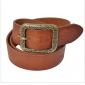 Genuine Leather Pin Buckle Ginning Carving Women Belts