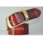Genuine Leather Pin Buckle Carving Korean Women Belts