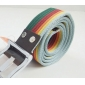 Thicken Canvas Weaving Alloy Pin Buckle Men's Casual Belts
