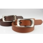 Thin No Cut Pin Buckle Tabula Rasa Buckle Elegant Fashion Leather Belts