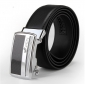 Man Genuine Leather Buckle Fashion Business Carbon Fiber Formal Belts