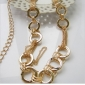 Gold Round Buckle Never Fade Chain Belts