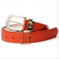 Orange With Diamond Bowknot Chain Bright Color Fabric Belts