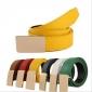 Pure Color Candy Color Mens PU Belts