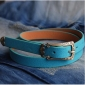 Candy Color Metal Heart Decoration New Tide Classic Belts