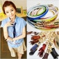 Tassels Candy Color Womans Dress Belts