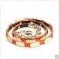 Orange Antirust Double Loop Buckle Metal Belts