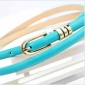 Blue Soft Face Needle Buckle Women Belts