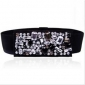 Black Beading Wide PU Belts