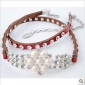 Red Diamond Pearls Decoration Chain Belts