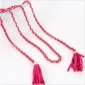 Tassel Pink Automatic Buckle Chain Belts
