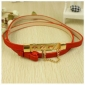 New Tide Stainless Steel Red Chain Belts