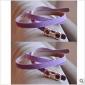 Purple Hasp Womans Leather Belts