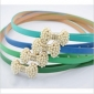 Candy Color Elegant Bow Style Beaded Belts